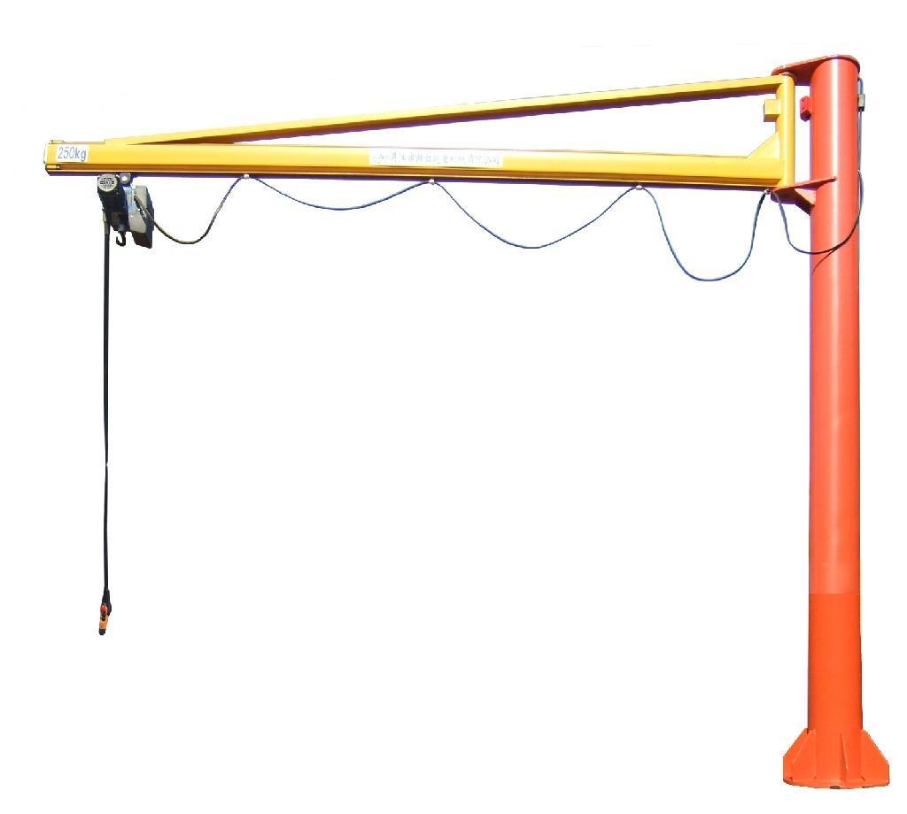 > 悬臂吊   悬臂吊起重机工作强度为轻型,起重机由立柱,回转臂回转图片